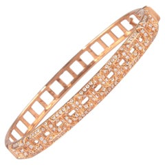 1.12 Carat Diamond Bengal 18 Karat Rose Gold Open Clasp
