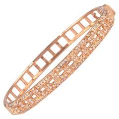 1.12 Carat Diamond Bengal 18 Karat Rose Gold Open Clasp