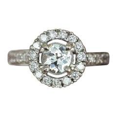 1.12 Carat Diamond Halo Ring