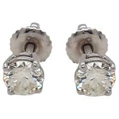1.12 Carat Diamond Stud Earrings