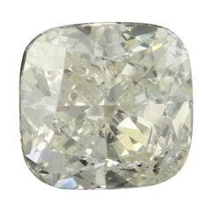1.12 Carat Loose Diamond, Cushion Cut GIA Graded I1 L Solitaire