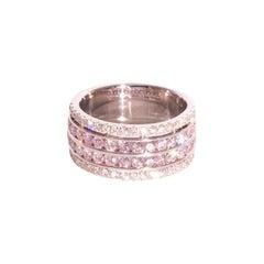 1.12 Carat Pink Diamonds and 0.40 Carat White Diamonds 18 Carat White Gold Ring