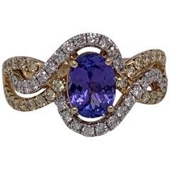 1.12 Carat Tanzanite and Diamond Ring