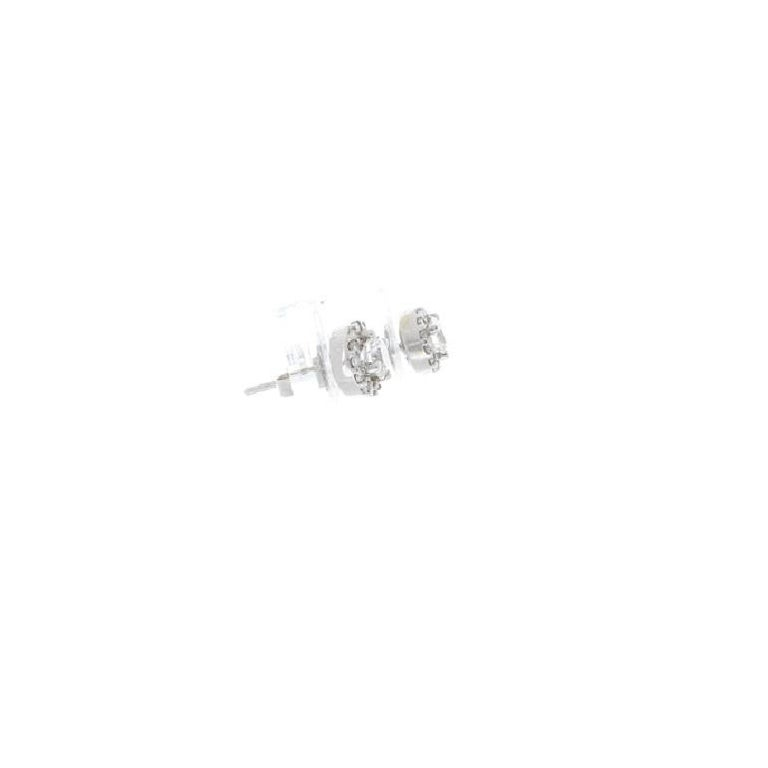 Round Cut 1.12 Carat Total Diamond Stud Earrings For Sale