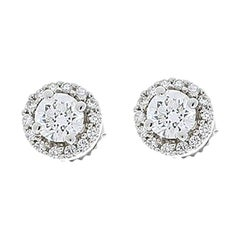 1.12 Carat Total Diamond Stud Earrings