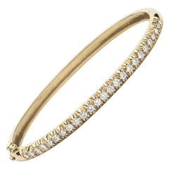 1.12 Carat Diamond Bangle Bracelet, 14 Karat Gold, Ben Dannie