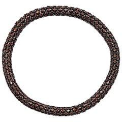 11.20 Carat Brown Diamond White Gold Flexible Bracelet