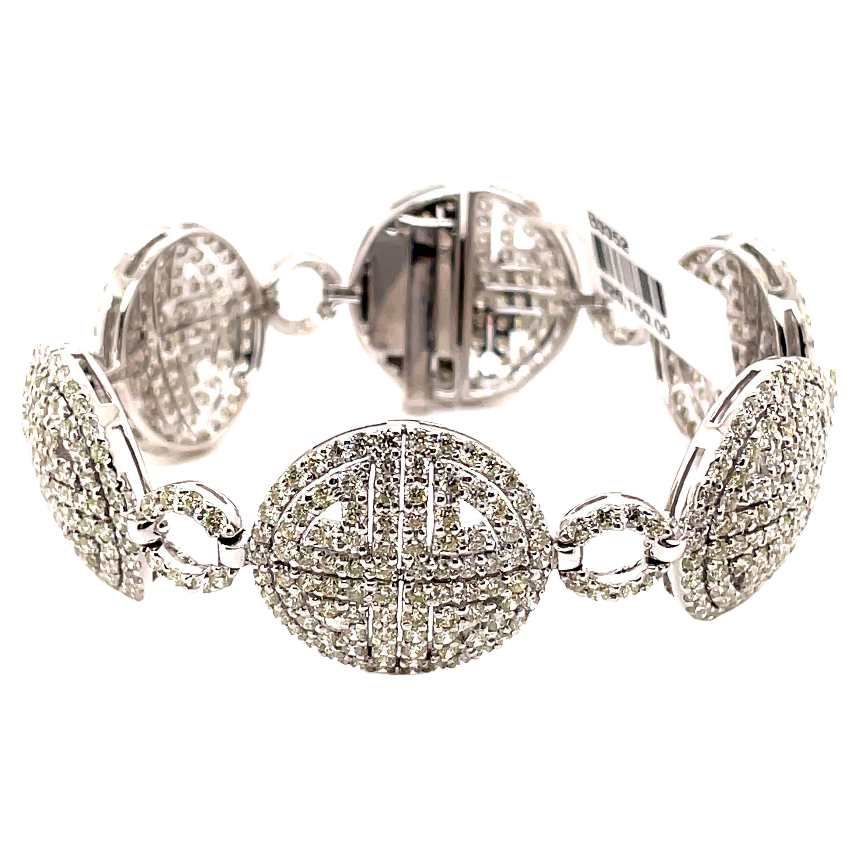 11.20ct Diamond Bracelet 18k White Gold