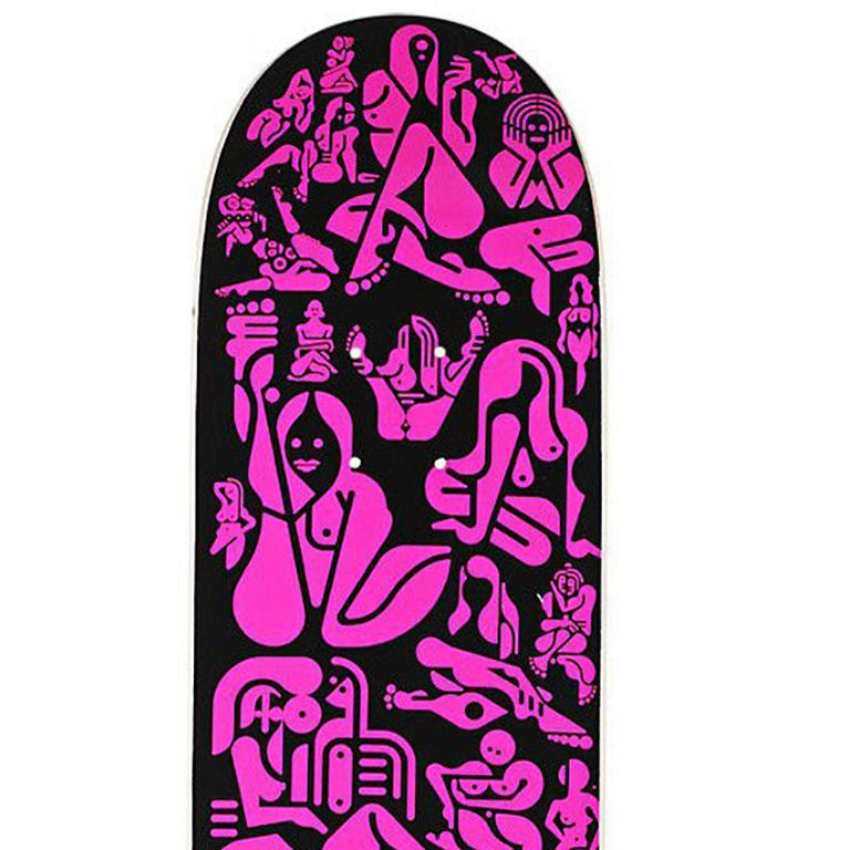 Rare Out of Print Ryan McGinness Skate Deck based on the artist's iconic 'Woman' series  This work originated circa 2013 as a result of the collaboration between Alien Workshop and McGinness. The deck is new and in its original packaging and plate