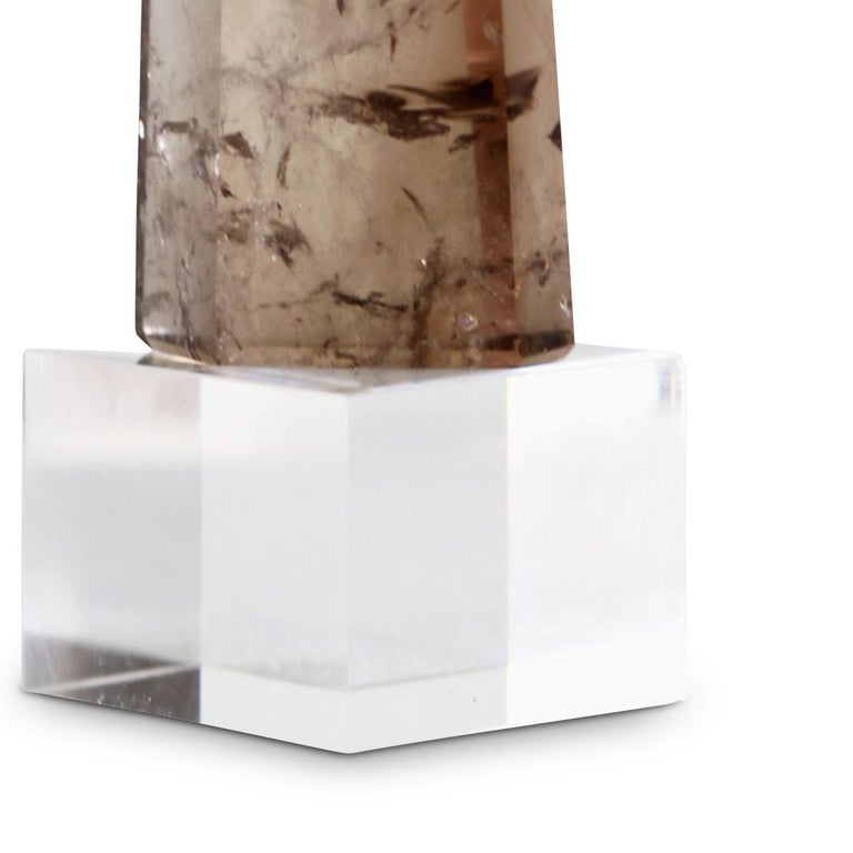 Smoky Quartz Point on Plexiglass Stand  For Sale 2