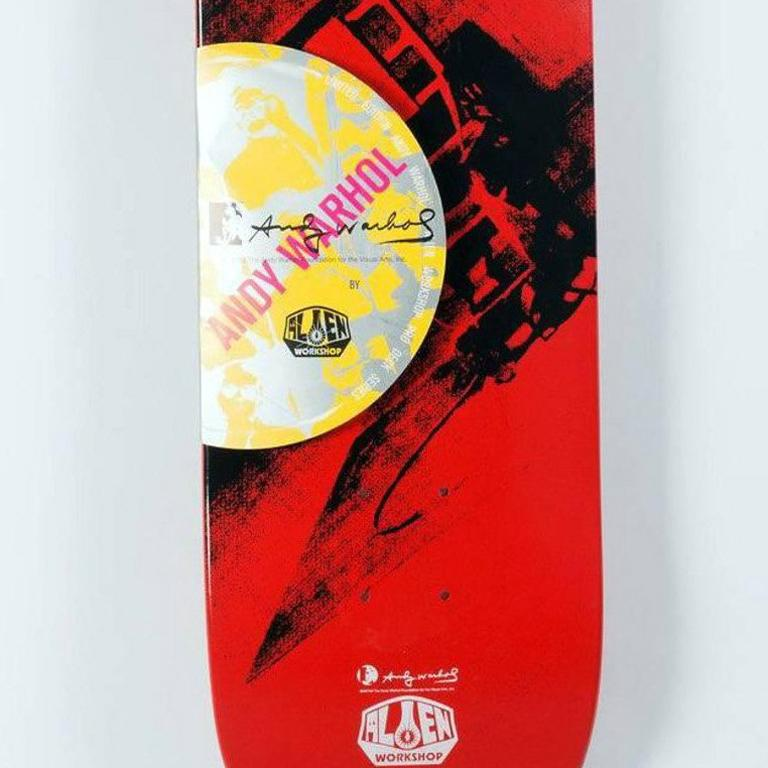 Andy Warhol Electric Chair Skate Deck (New) For Sale 1