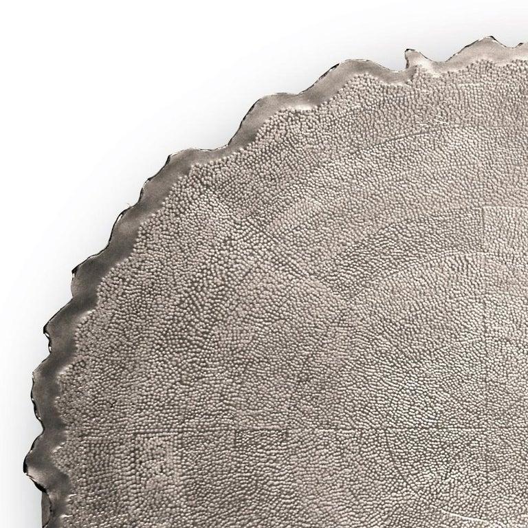 Silver 'Corona' Decorative Plate by Alexandra Agudelo For Sale 1