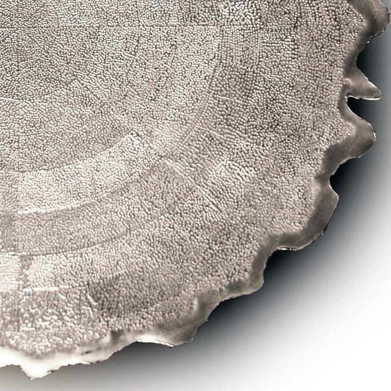 Silver 'Corona' Decorative Plate by Alexandra Agudelo For Sale 3