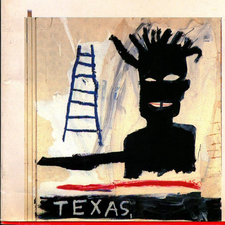 Original 1990 Catalog to Jean-Michel Basquiat at Gallery Fabien Boulakia / Le Dernier Terrain Vague, Paris, 1990.   Beautifully designed and quite rare catalog with text and interview excerpts in English by Greg Tate, Remo Gudieri, Sylvie Philippon,
