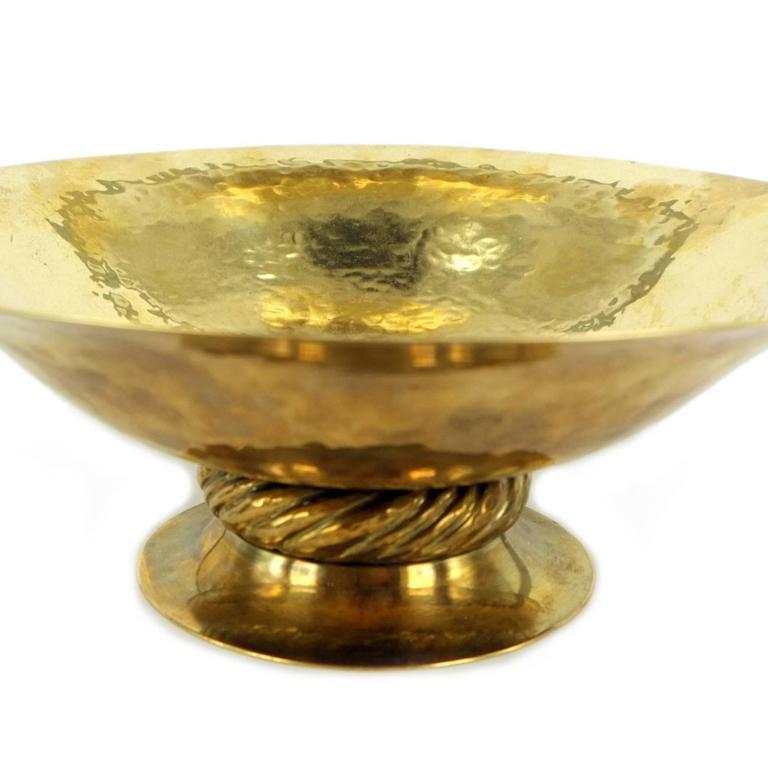 Josef Hoffmann for Wiener Werkstätte,  Big Bowl, Polished Brass, circa 1925 For Sale 1