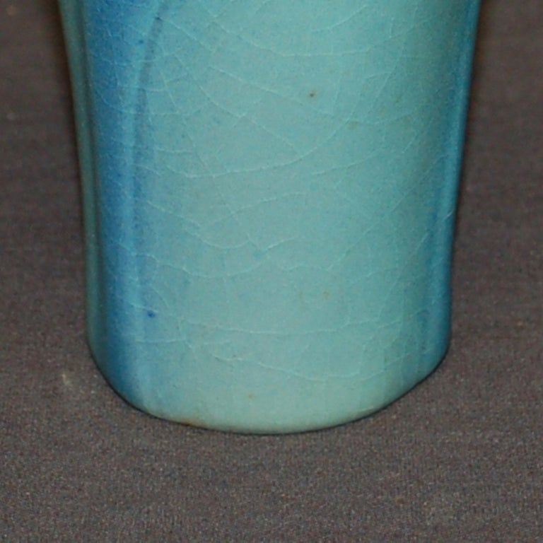 Blue/Green Flower Vase For Sale 1