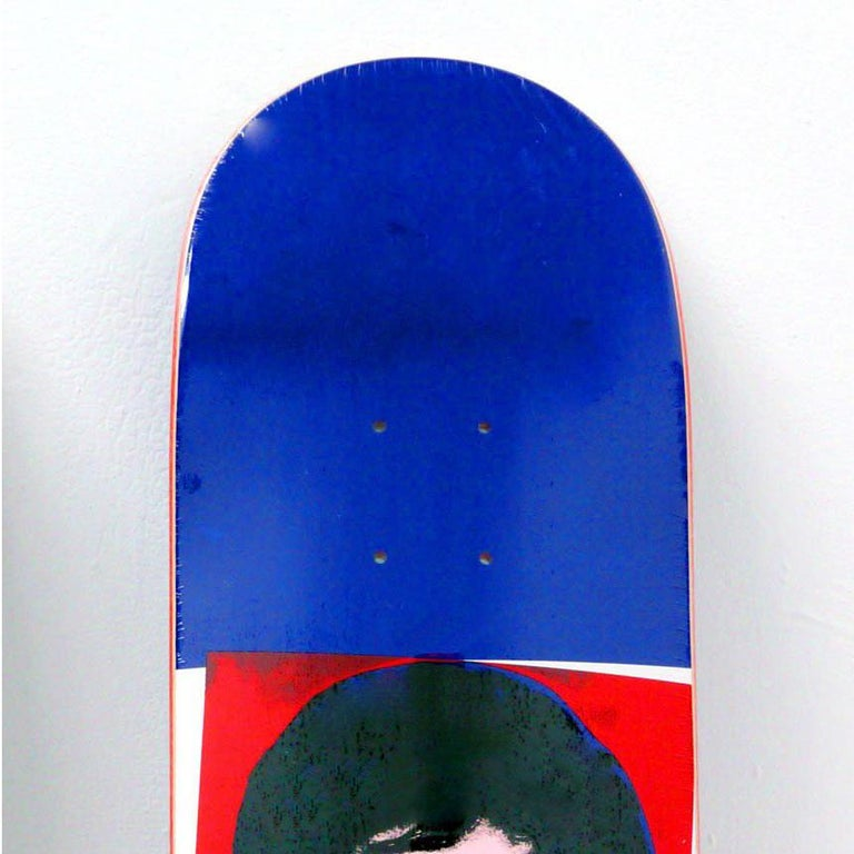Rare Out of Print Andy Warhol Jackie O. Skate Deck: New in its original packaging. One of the most sought after of all Warhol decks from the series.  This work originated circa 2010 as a result of the collaboration between Alien Workshop and the