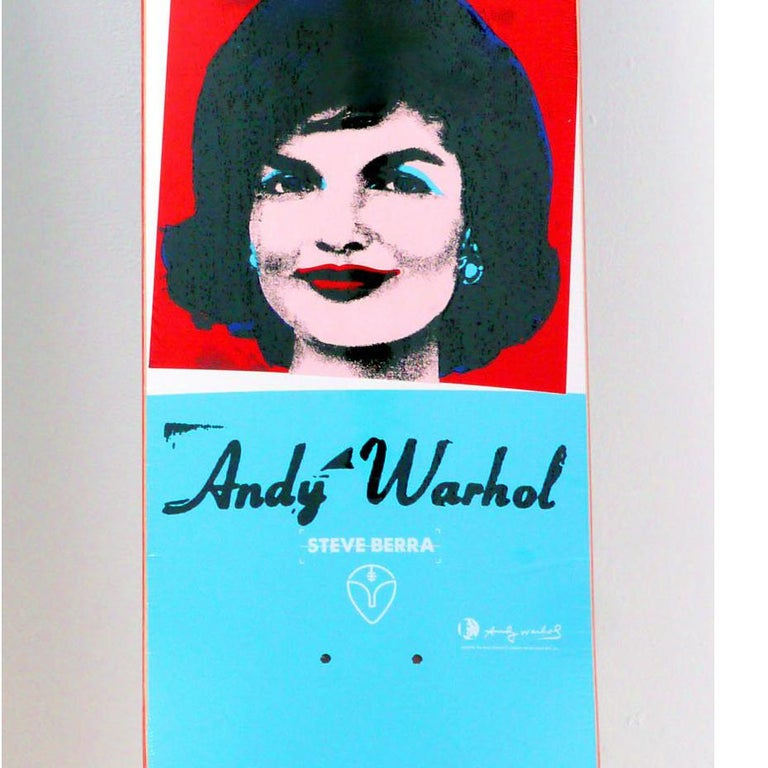 Andy Warhol Jackie Skateboard Deck (Warhol skateboard)  For Sale 1