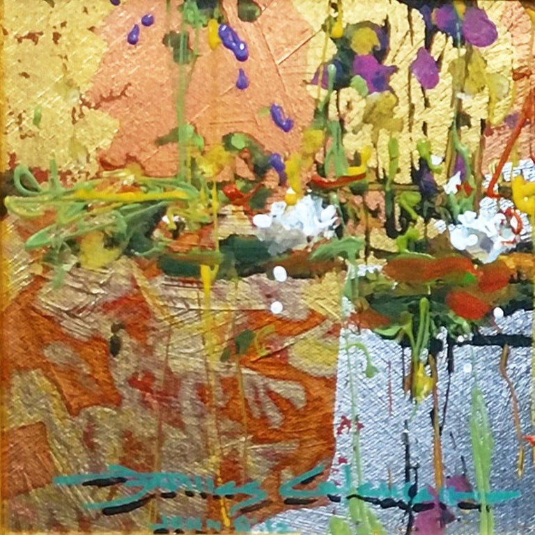 GOLDEN REFLECTION - Expressionist Painting by James Coleman