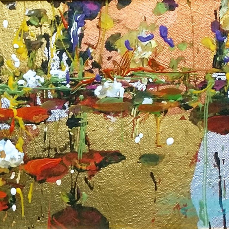 GOLDEN REFLECTION - Brown Landscape Painting by James Coleman