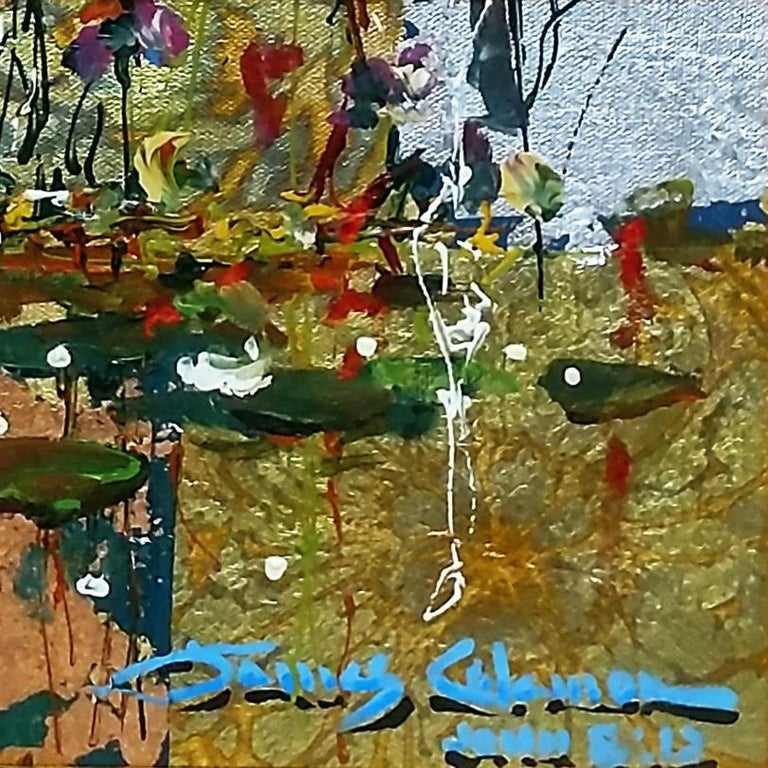Original mixed media painting on canvas. Hand signed on front; signed and titled on verso by the artist. Canvas is stretched.  Artwork is in excellent condition. Certificate of authenticity included. All reasonable offers will be considered.