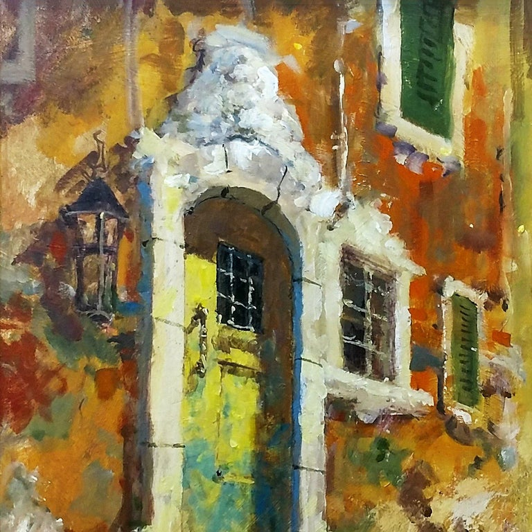 THE WEATHERED DOOR - Expressionist Painting by James Coleman