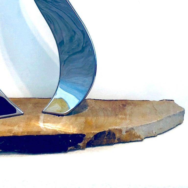 Tango - Gray Abstract Sculpture by Ryan T. Schmidt