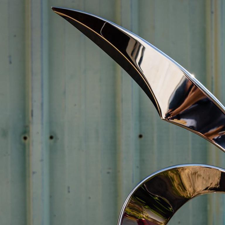 Cardinal - Gray Abstract Sculpture by Ryan T. Schmidt
