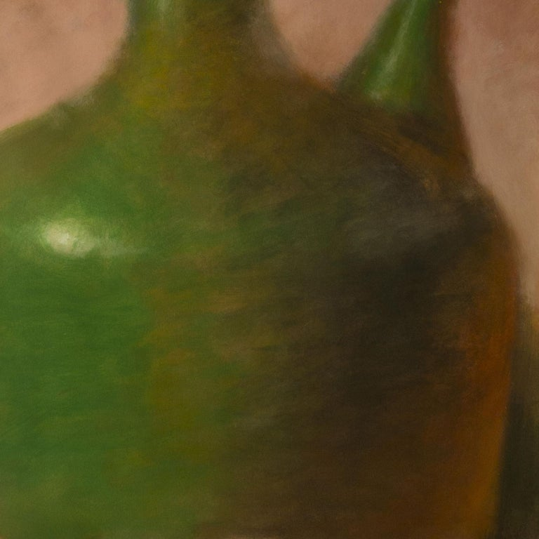 From a series of amphorae and vases, exploring color and form.  :: Mixed Media :: Contemporary :: This piece comes with an official certificate of authenticity signed by the artist :: Ready to Hang: No :: Signed: Yes :: Signature Location: Bottom