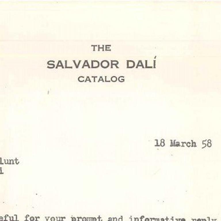 Cataloging Dalì's work - Surrealist Art by Albert Field
