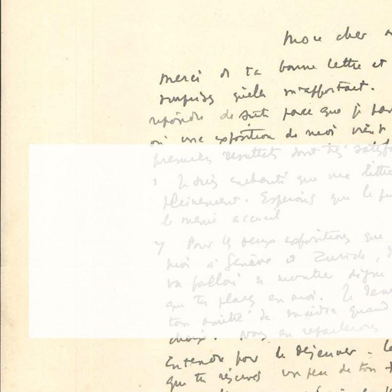 Original Signed Letter by André Masson - 1940s - Surrealism For Sale 3