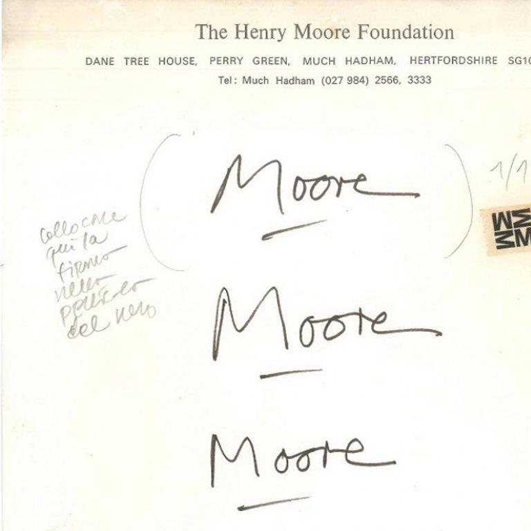 Proofs of signature - Contemporary Art by Henry Moore
