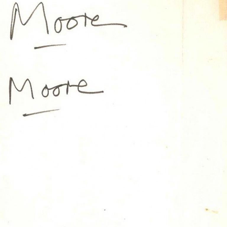 Very interesting proofs of signature by Henry Moore, on the letterhead of