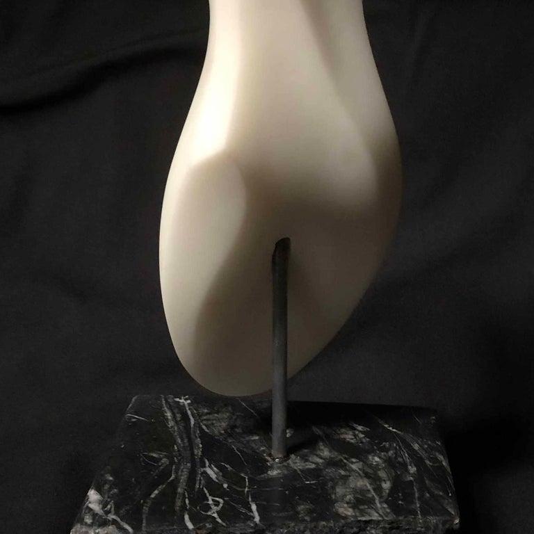 Clycladic Sister II - Black Figurative Sculpture by Steven Lustig