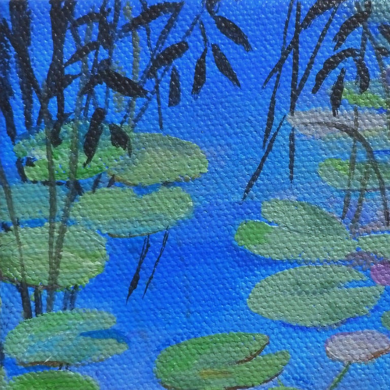 Lilypads - Abstract Impressionist Painting by Catherine McCargar