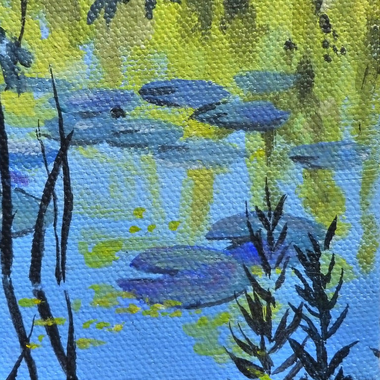 Waterlilies and Willows II For Sale 1