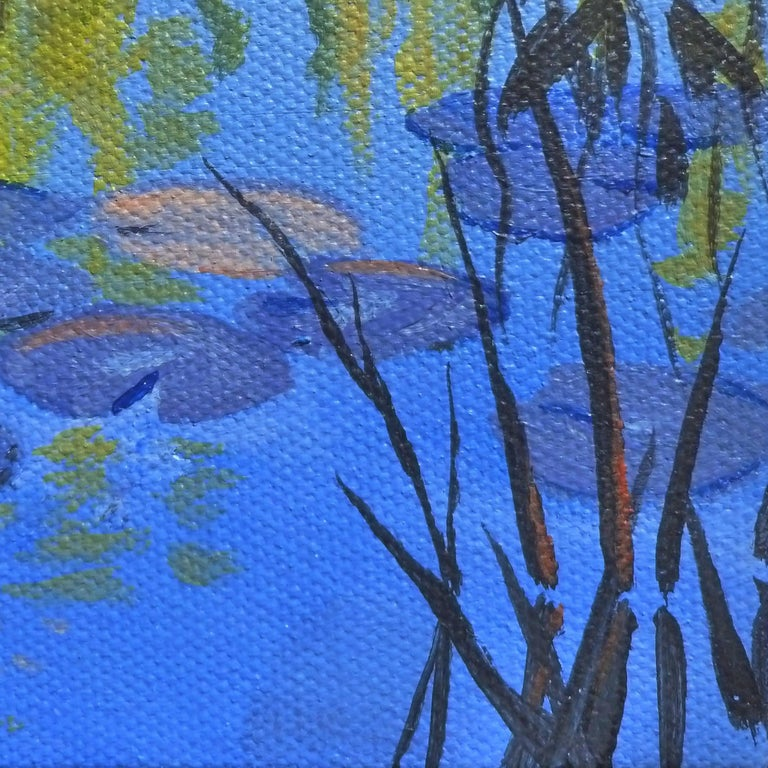 Waterlilies and Willows For Sale 1