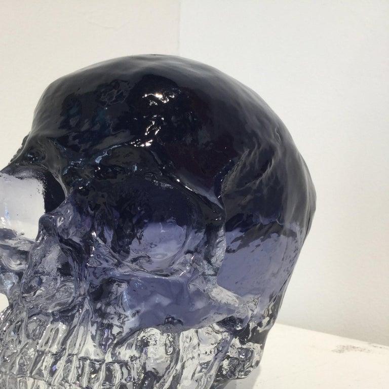 Sam Tufnell Black Crystal Skull, 2018 Resin Sculpture 6