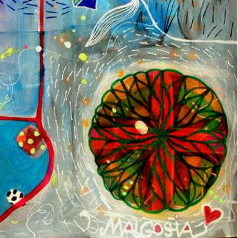Kites Over Big Water - Surrealist Mixed Media Art by Malgosia Kiernozycka