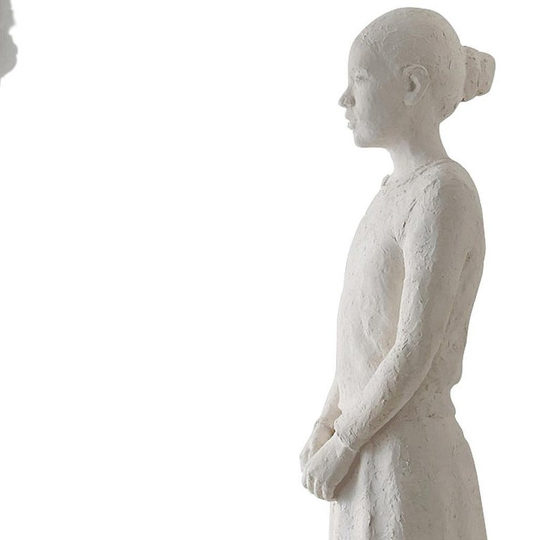The Cloud - Gray Figurative Sculpture by Isabelle Corniere