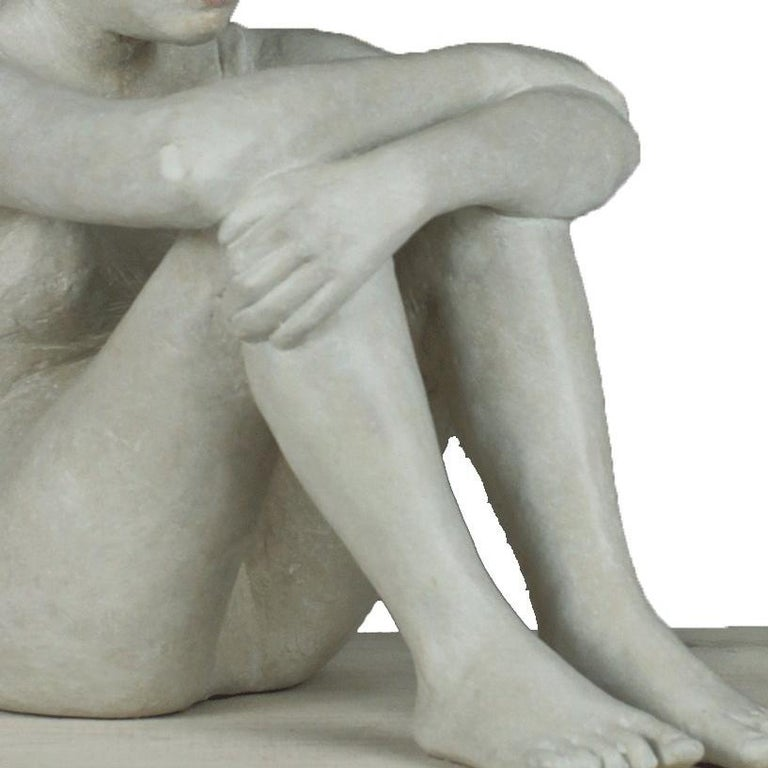 Silence - Brown Figurative Sculpture by Isabelle Corniere