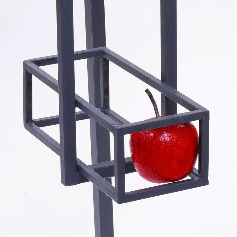 Lectern with apple - Jean-Paul Réti, 21st Century, Contemporary metal sculpture For Sale 1