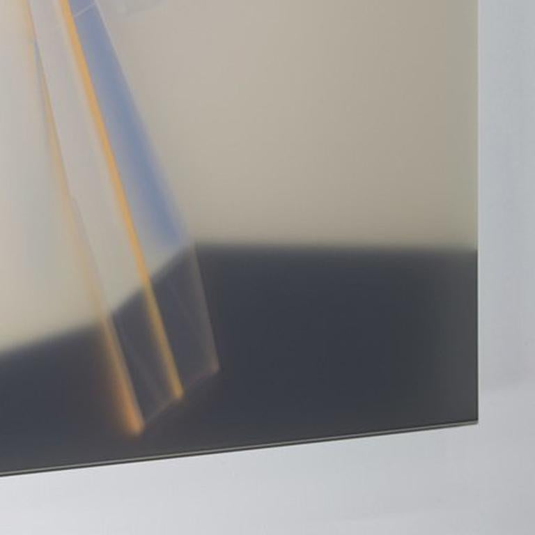 KAL MANSUR Artist Statement Kal Mansur is a visual artist specializing in acrylic/plexiglas construction. His work emulates geometric forms in architecture. Using a highly polished level of skill, he pursues the minimalist objective of erasing the