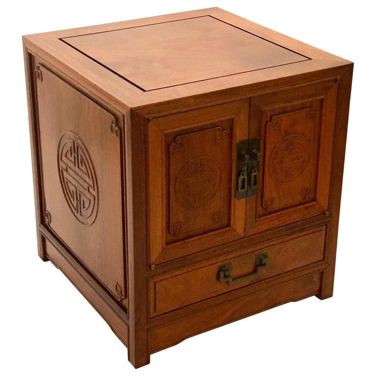 Petite Solid Rosewood Chinese Cabinet By George Zee Of Hong Kong For
