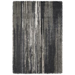 Inuk Hand-Tufted Tencel Rug in Brown and Black Gradient
