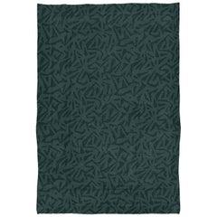 Brabbu Kubeo Handgeknüpfter Gefärbter Wolle Teppich im Waldgrün