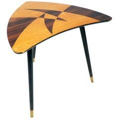 Kleiner Beistelltisch, Tischplatte mit Intarsieholz