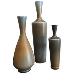 Berndt Friberg Set of Three Ceramic Vases, 1960s