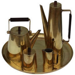 Modernist Italian Brass Tea Set