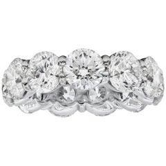 11.26 Carat Round Brilliant Diamond Eternity Wedding Band